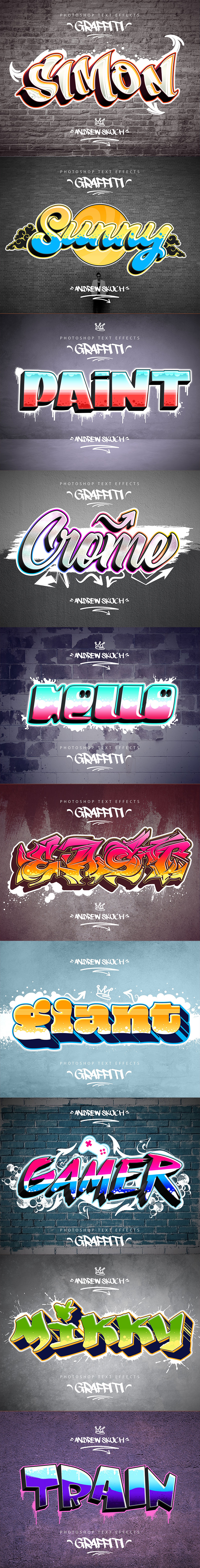 Graffiti Text Effects - 10 PSD - vol 1 por Sko4 / GraphiRiver