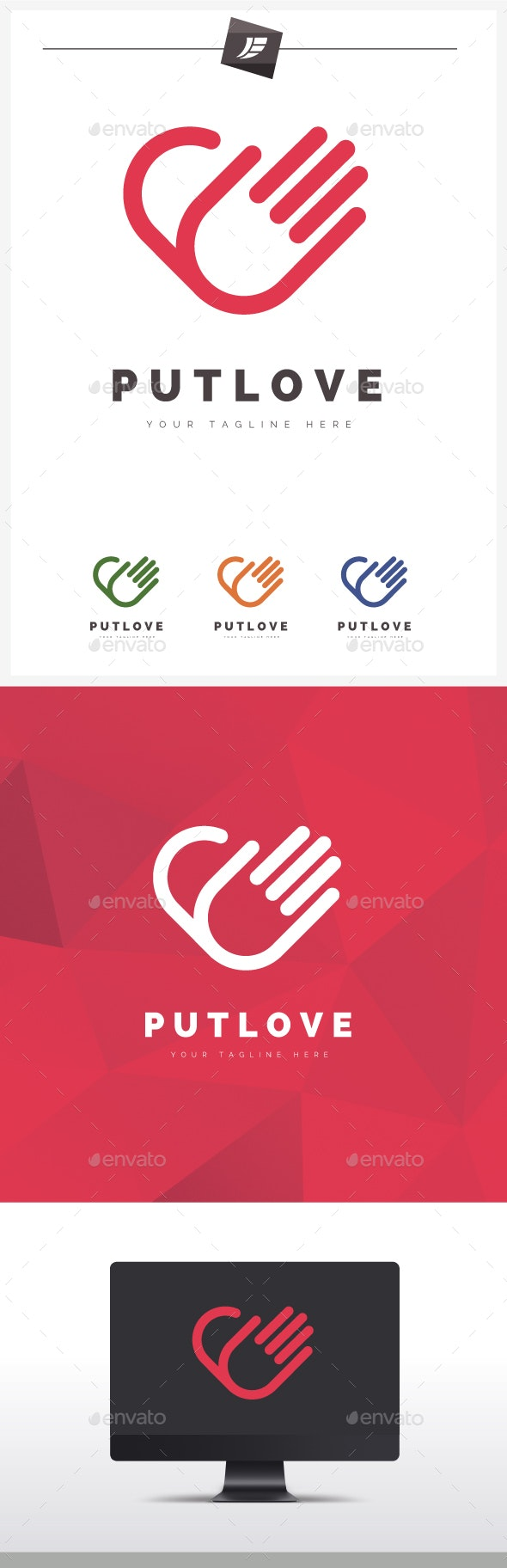 Put Love Logo por juelogo / GraphicRiver