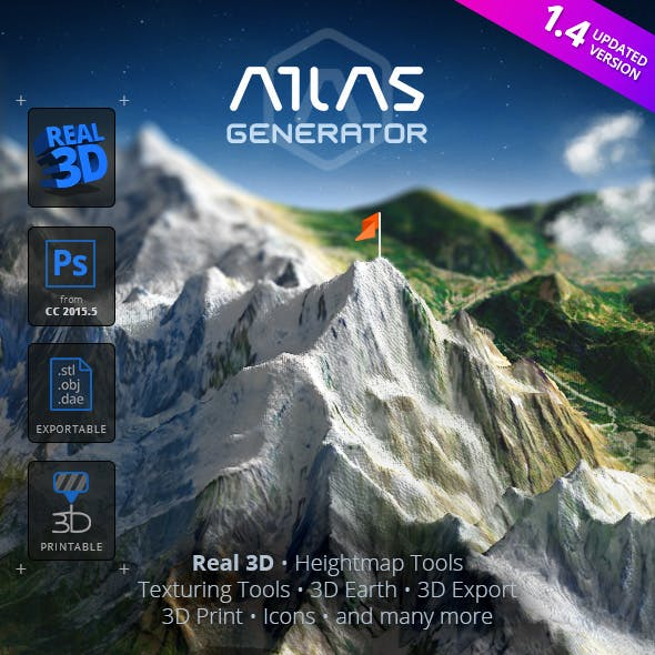 3D Map Generator - Atlas - From Heightmap to real 3D map by Orange_Box in Utilities - Add-ons