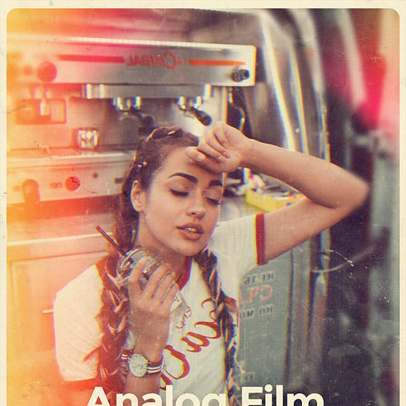 Analog Film Photoshop Action by 7h10 in Photo Effects