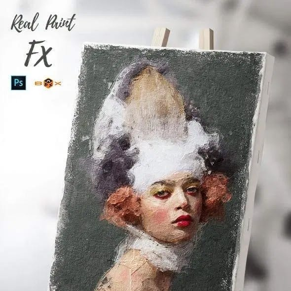 Animated Real Paint FX - Photoshop Add-On by Giallo in Photo Effects