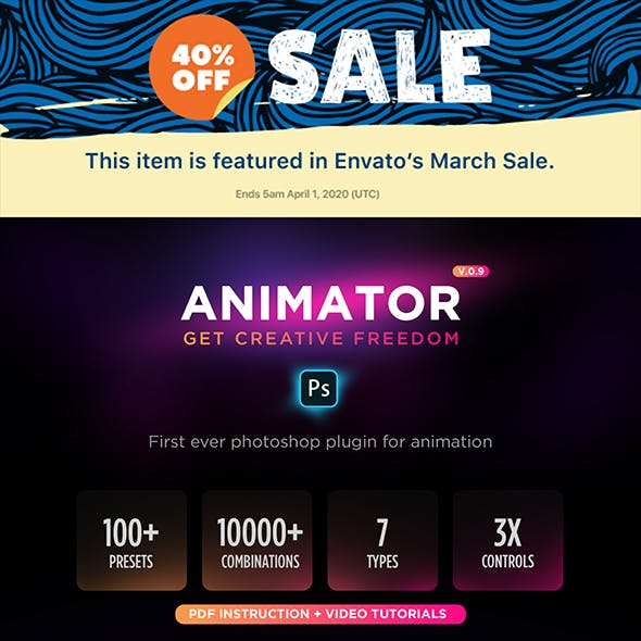 Animator Photoshop Plug-in for Animated Effects by sreda in Utilities
