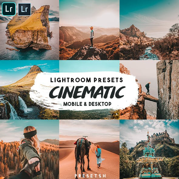 Cinematic insta Lightroom Presets by Presetsh in Cinematic