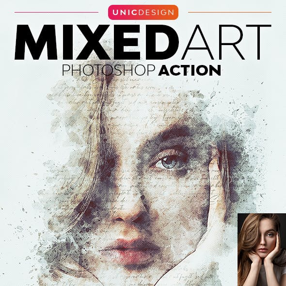 Mixed Art Photoshop Action by UnicDesign in Photo Effects