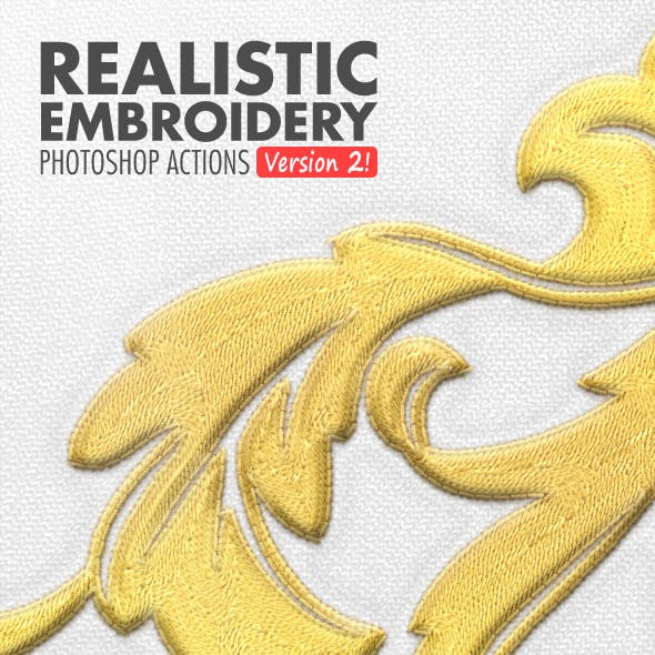 Realistic Embroidery - Photoshop Actions by BlackNull in Utilities