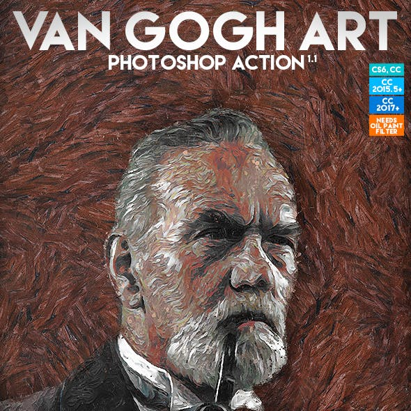 Van Gogh Art Photoshop Action by Eugene-design in Photo Effects