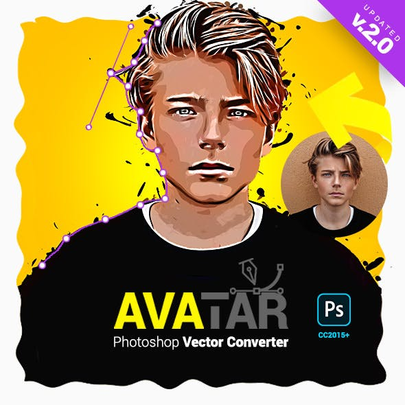 Vector Converter - Avatar - Photoshop Plugin by profactions in Photo Effects