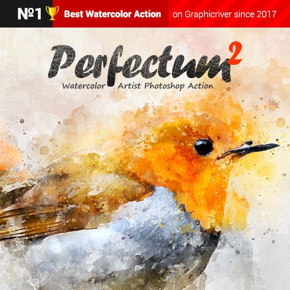 Watercolor Artist - Perfectum 2 - Photoshop Action by profactions in Photo Effects