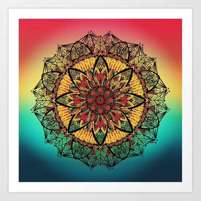Good vibe mandala soceity6 art print