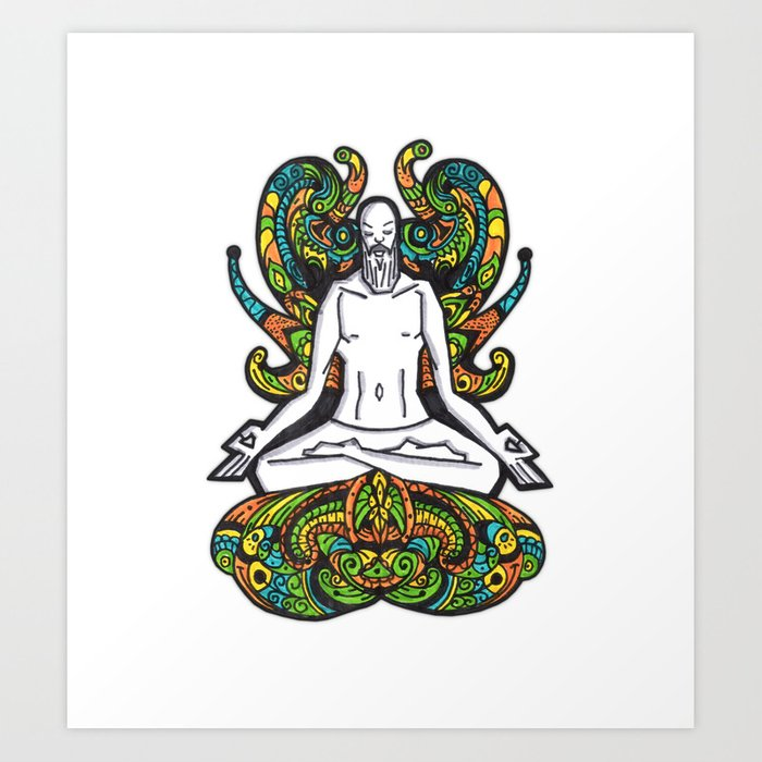 Meditation ink art prints society6