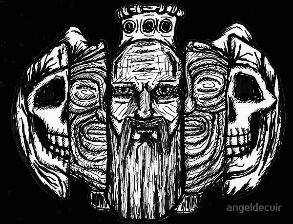 Beard life and death - sketch - Art print - shop - Redbubble