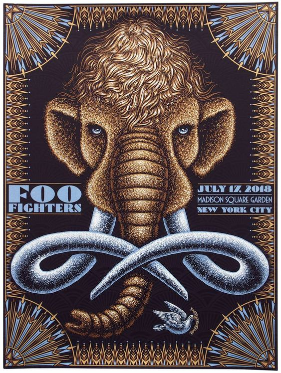 Foo Fighters Poster by Todd Slater