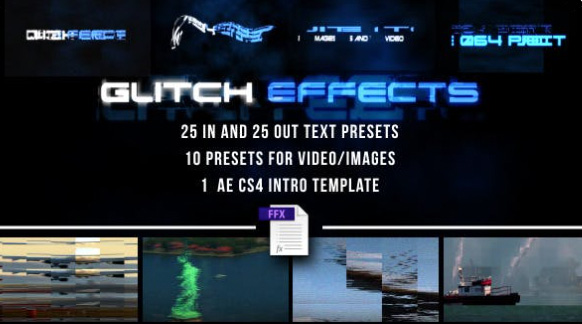 Glitch Presets for Text and Video  by artproject