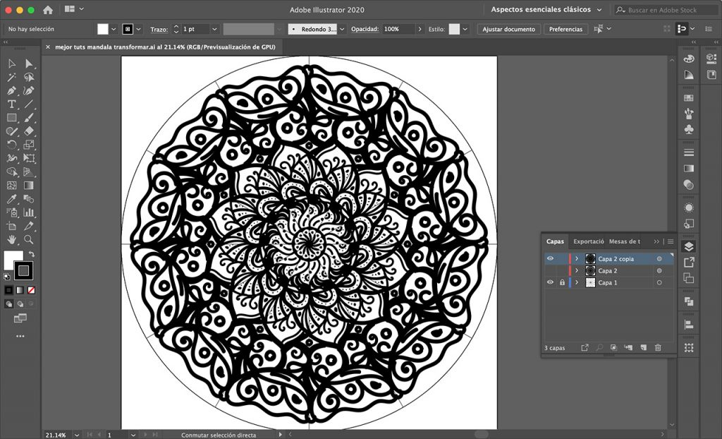 El mejor tutorial para crear mandala en illustrator