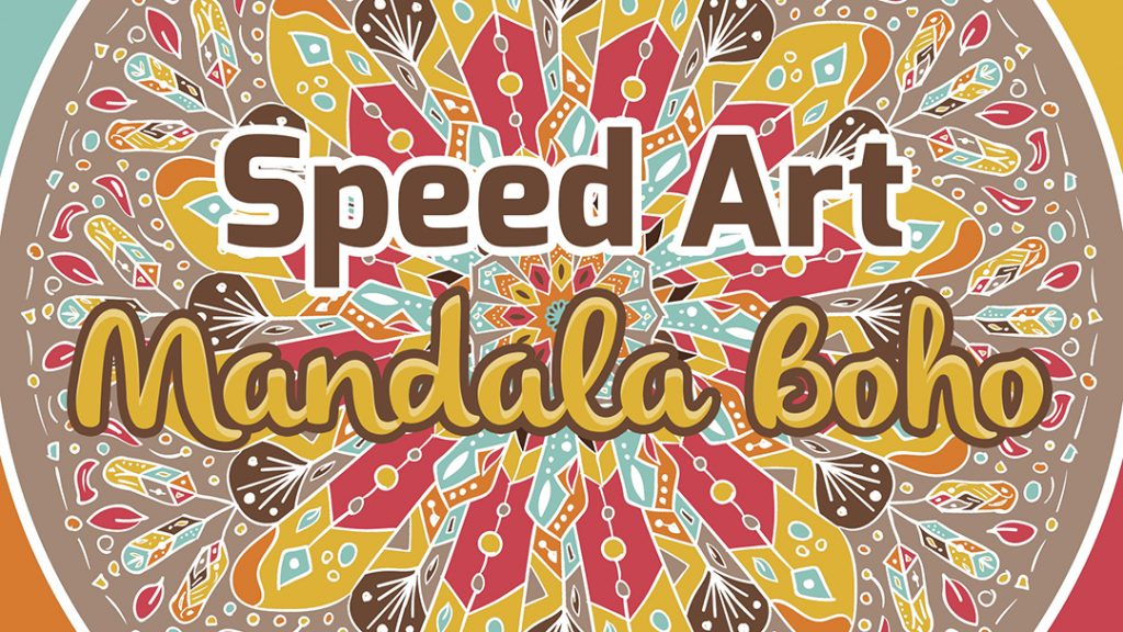 Speed Art - Mandala Boho en Illustrator y Photoshop