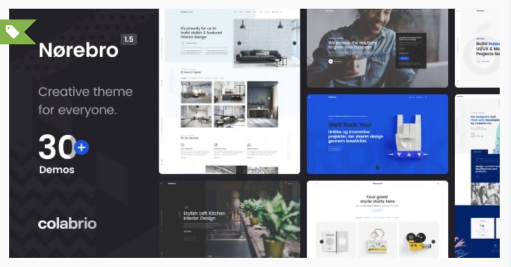 Norebro - Creative Portfolio Theme for Multipurpose Usage Colabrio