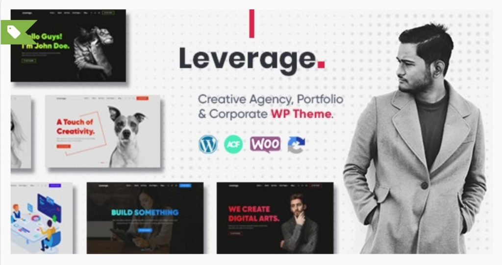 Leverage - Creative Agency & Portfolio WordPress Theme CodingsDev  creative theme para wordpress