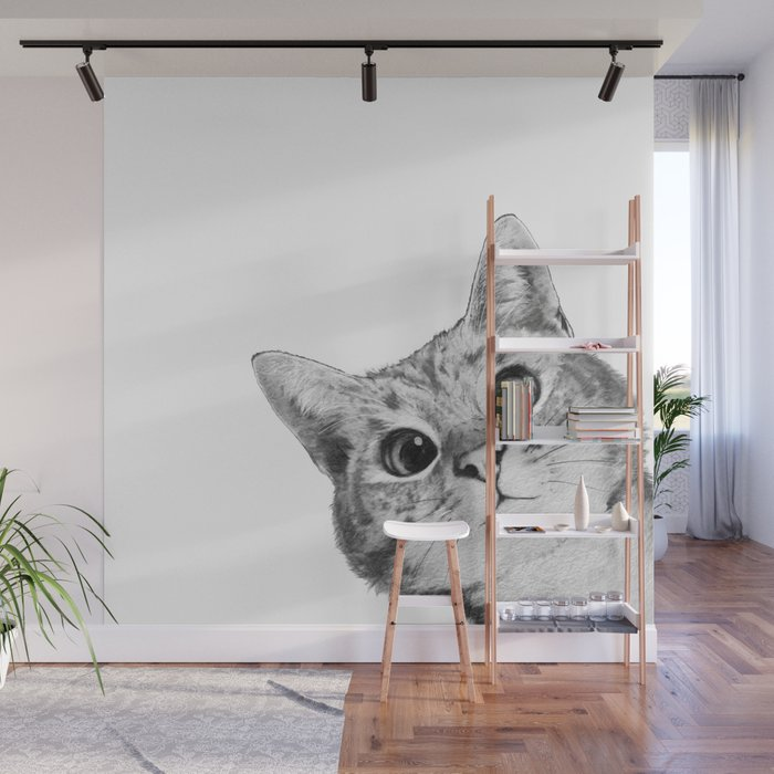 sneaky cat Wall Mural - Laura Graves