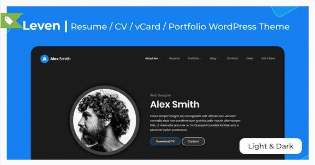 Leven | CV/Resume Theme LMPixels