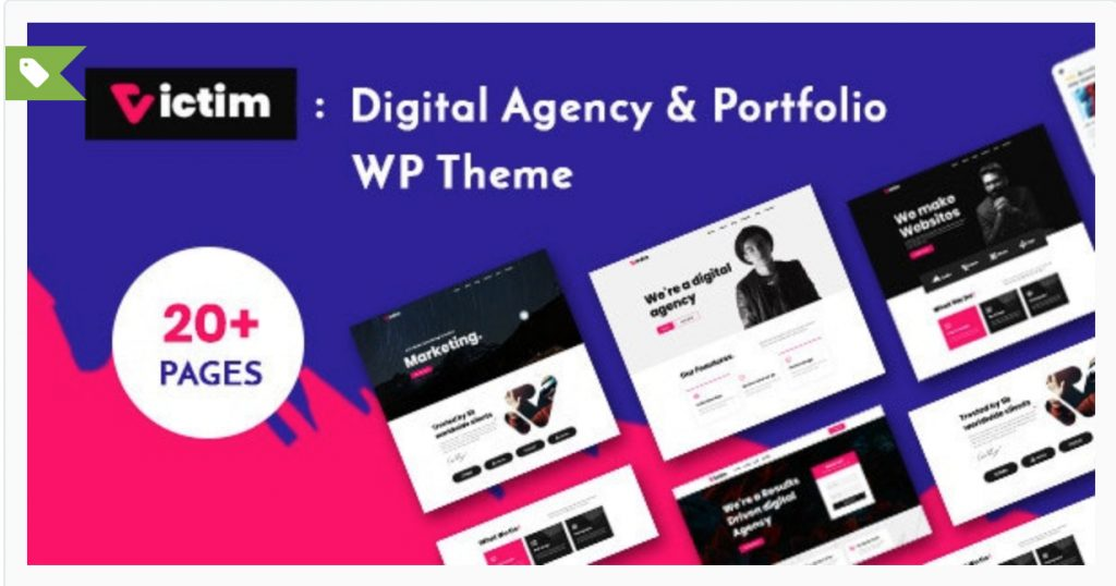 Victim - Digital Agency & Portfolio WordPress Theme SoftHopper - creative theme para wordpress -