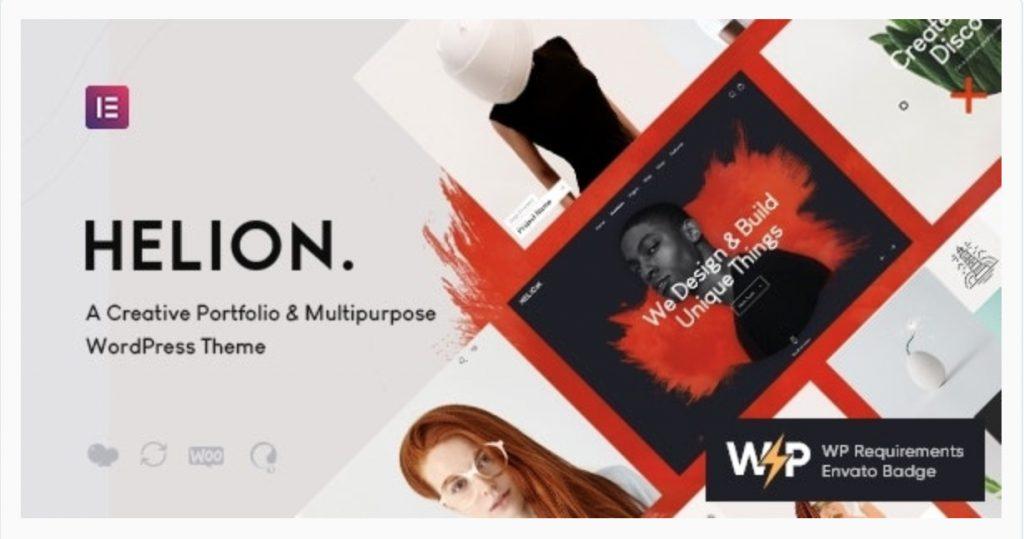 Helion | Personal Creative Portfolio WordPress Theme + Store Axiomtheme