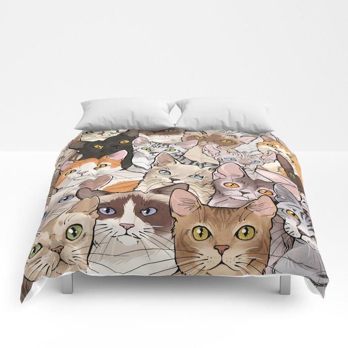 A lot of Cats Comforters - Vernessa Himmler Illustration
