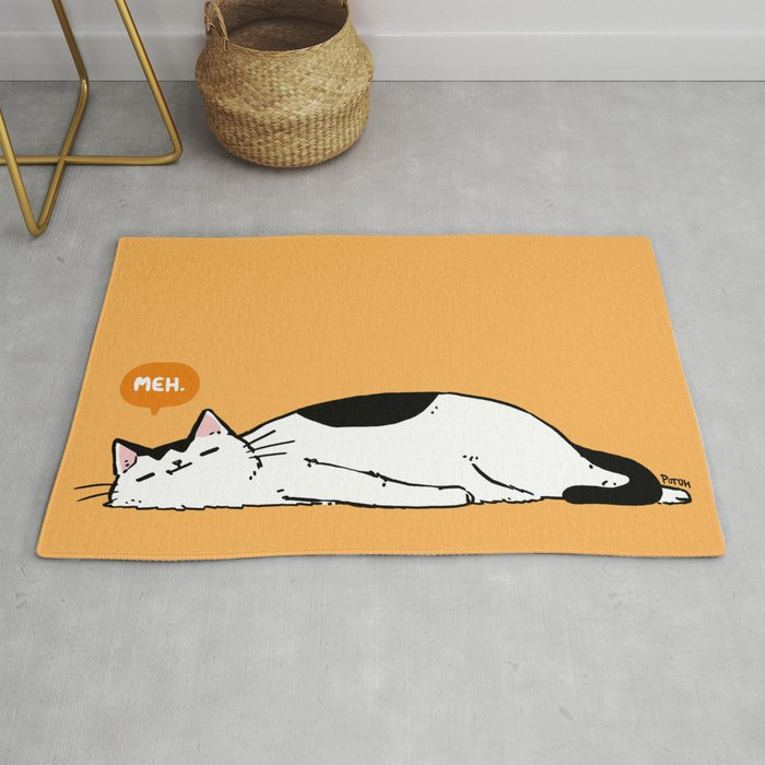 Lazy Rug - Potoh  -art prints de gatos