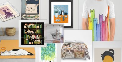 10 art prints de gatos populares en society6