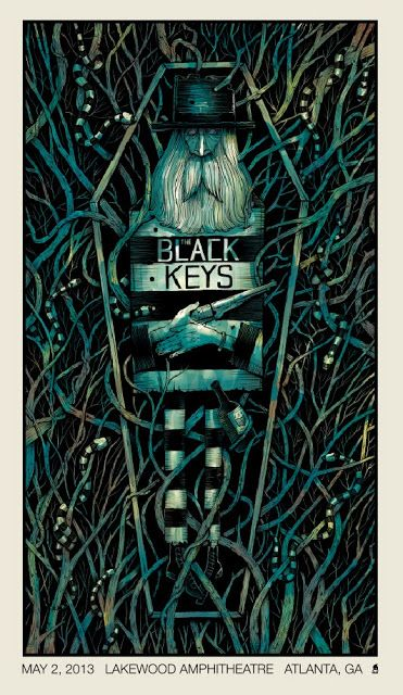 The Black Keys Atlanta Poster by Methane Studios