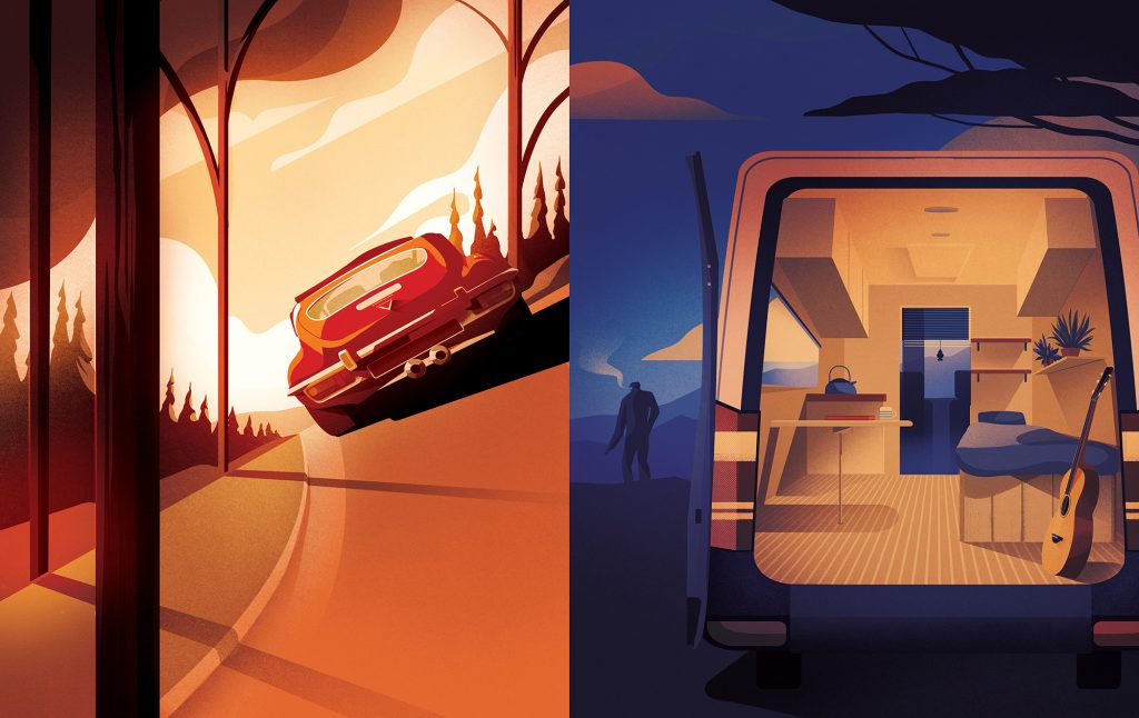 Transport & Travel Illustrations 2018 - Charlie Davis   - Arte creativo