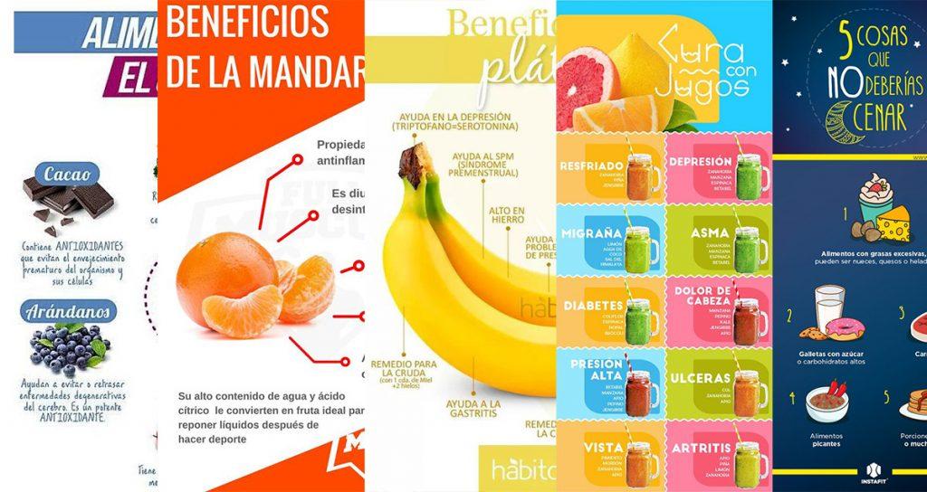 Geniales infografías para tener una vida saludable