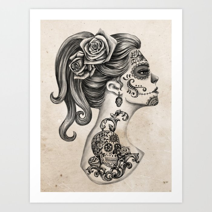 Day of the Dead Girl Art Print by Vivian Lau