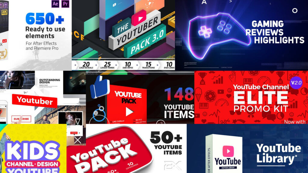 YouTube Packs para que tu canal luzca profesional