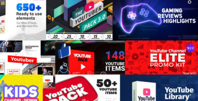 YouTube Packs para que tu canal luzca profesional