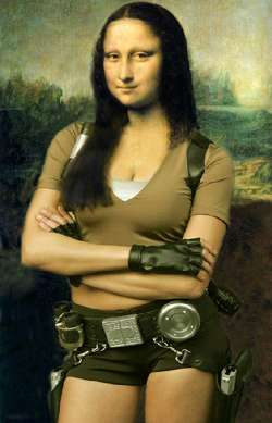 Mona Lisa como Lara Croft