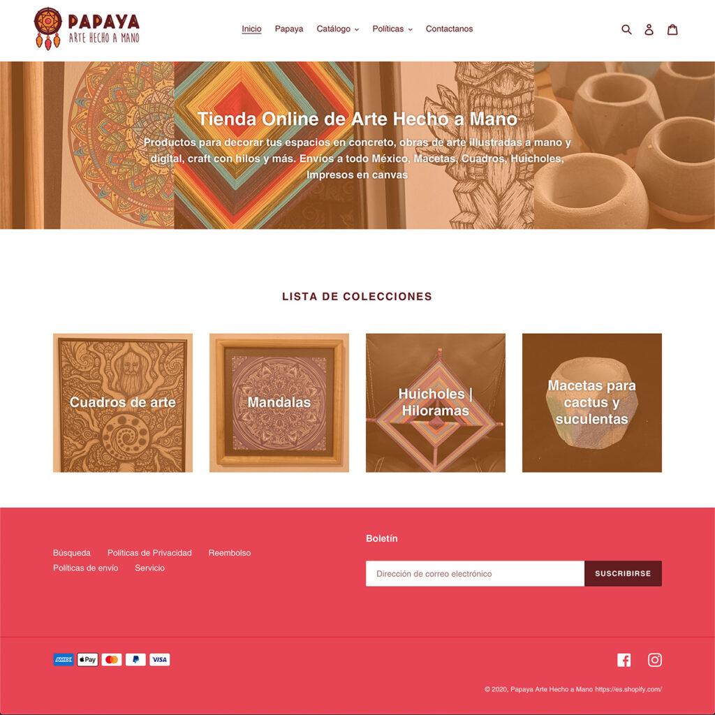 Papaya Arte Hecho a Mano | Tienda Online en México