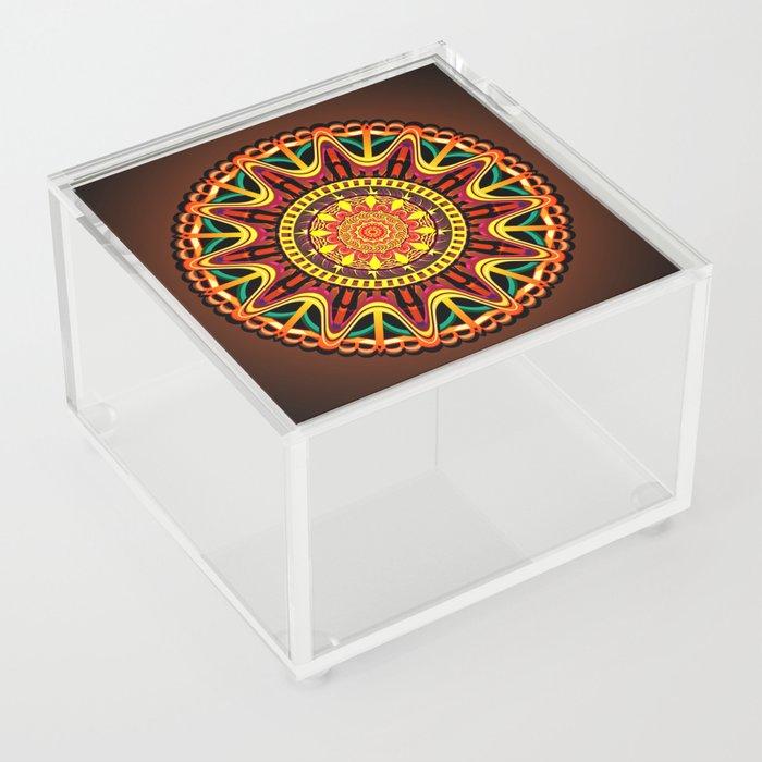 Mandala orange Acrylic Box