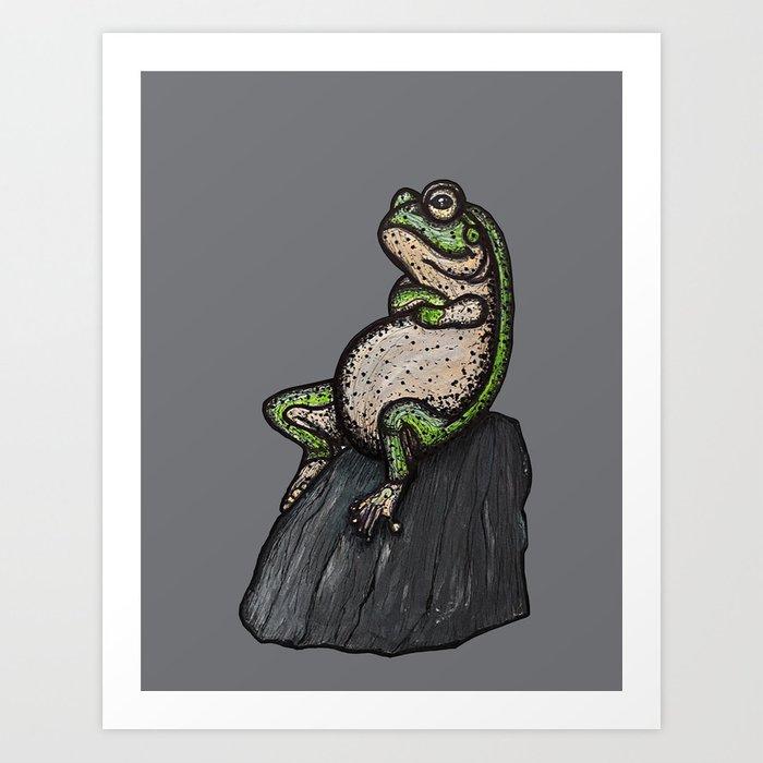 Cool frog Art Print