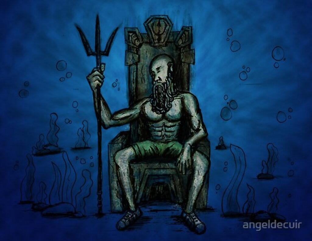 Bearded King Underwater
