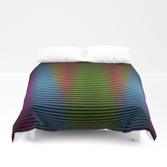 Color in lines Duvet Cover