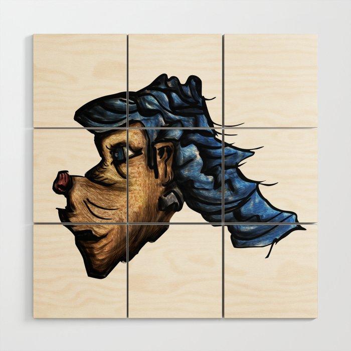 Dog sketch cloud Wood Wall Art
