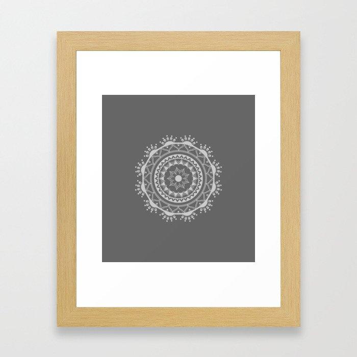 Mandala light Mx Framed Art Print
