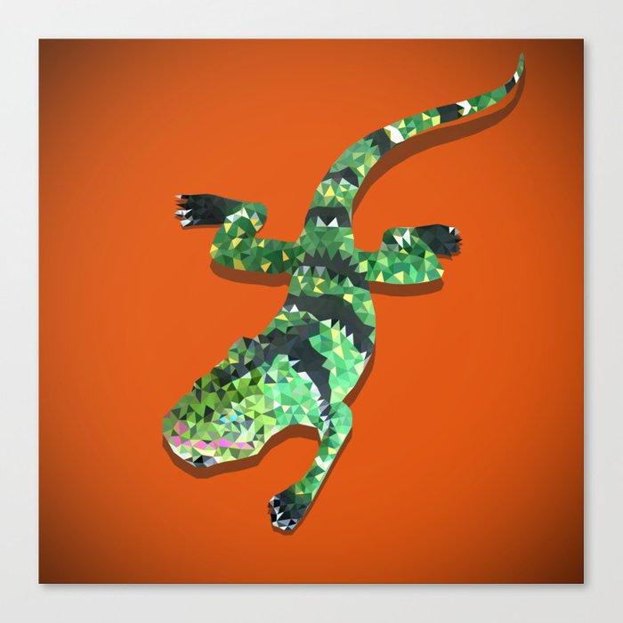 Iguana Techy Art Canvas Print