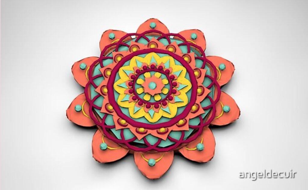 Mandala 3D Lowpoly