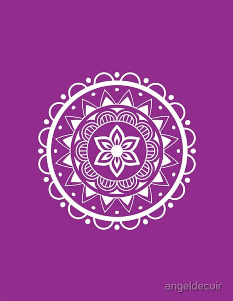 Mandala center flower