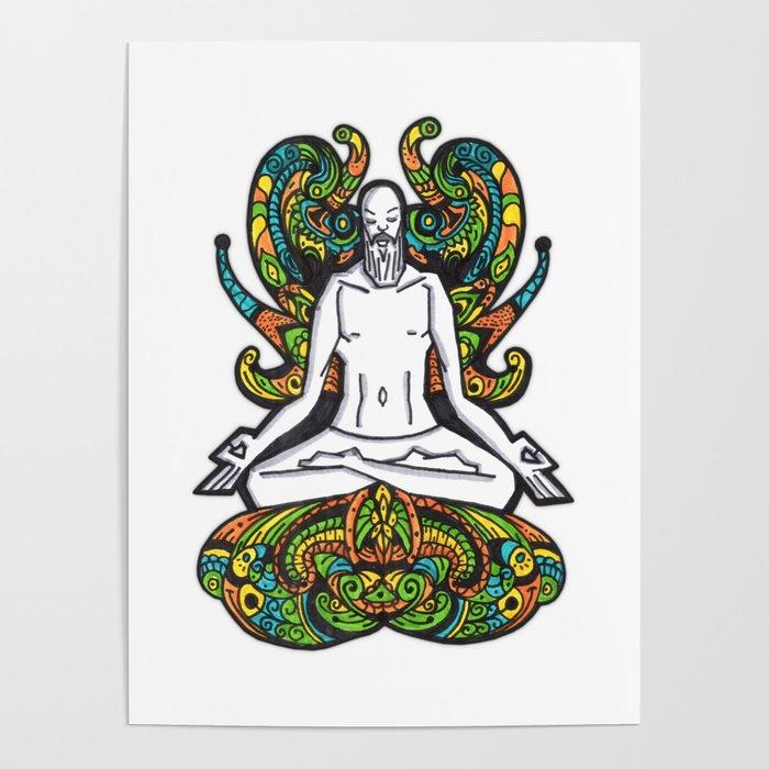 Meditation ink Poster
