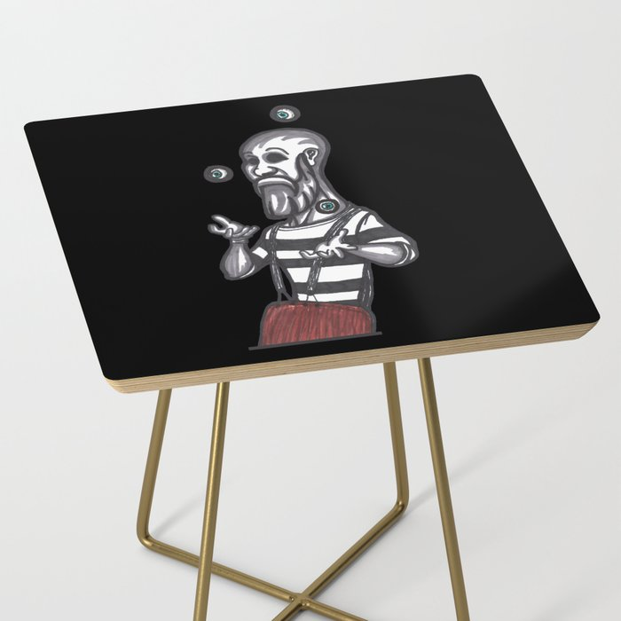 mime juggling Side Table