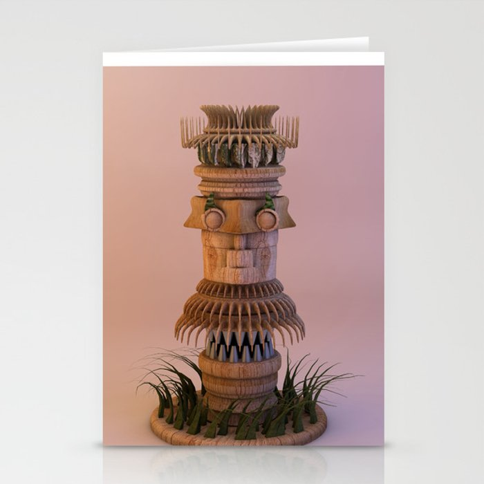 Animal Tiki 3D Stationery Cards