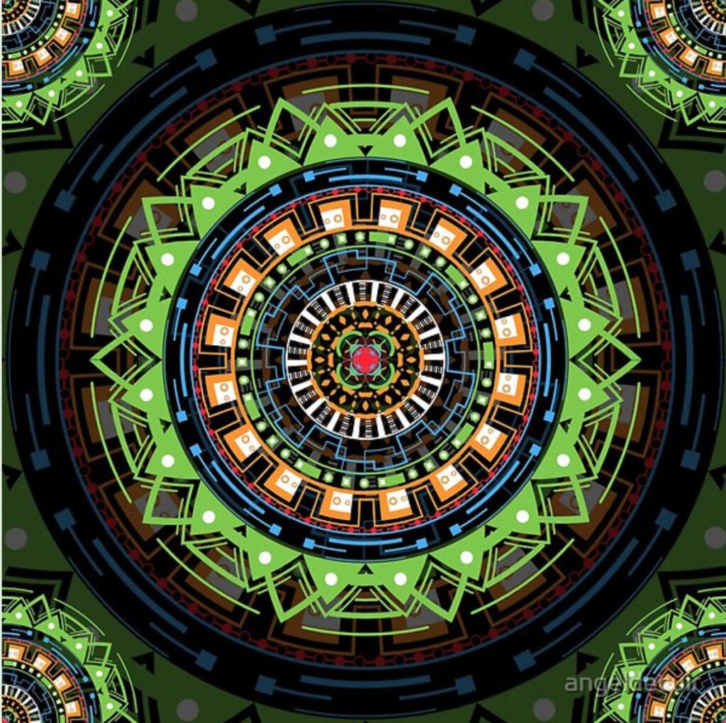Tecno Mandala Arte en Redbubble