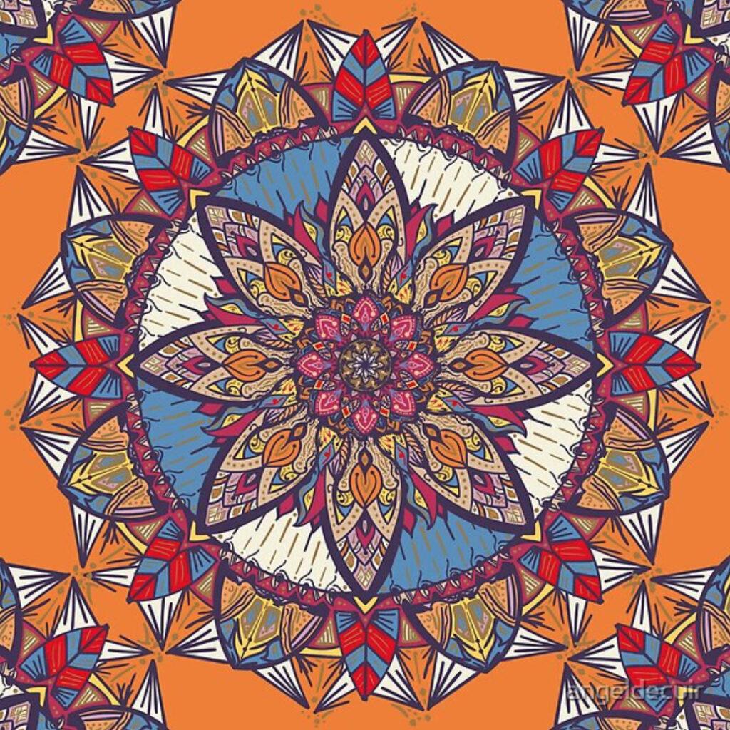 Mandala Transformaciones Arte impreso en Redbubble